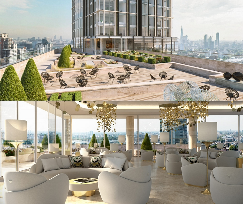 AYKON London One with interiors by Versace