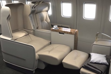Cutting edge luxury in the air: Private Jet journeys with fully lie-flat seats