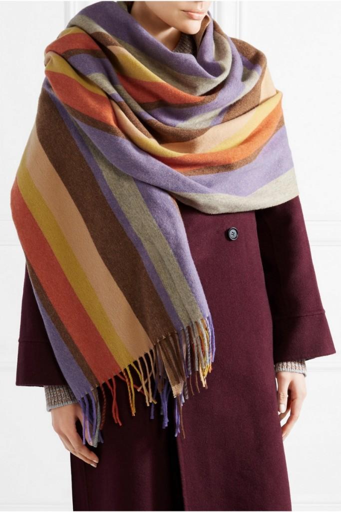 Acne Studios Canada striped wool scarf