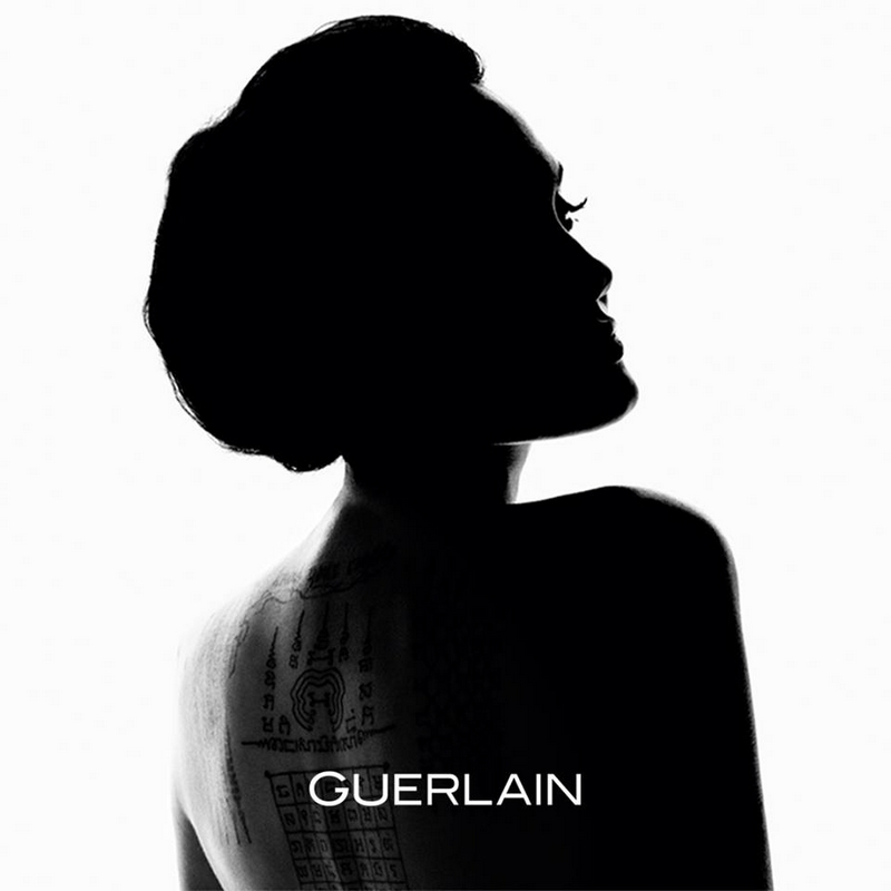 Actress, filmmaker, and humanitarian Angelina Jolie is the new icon for Guerlain
