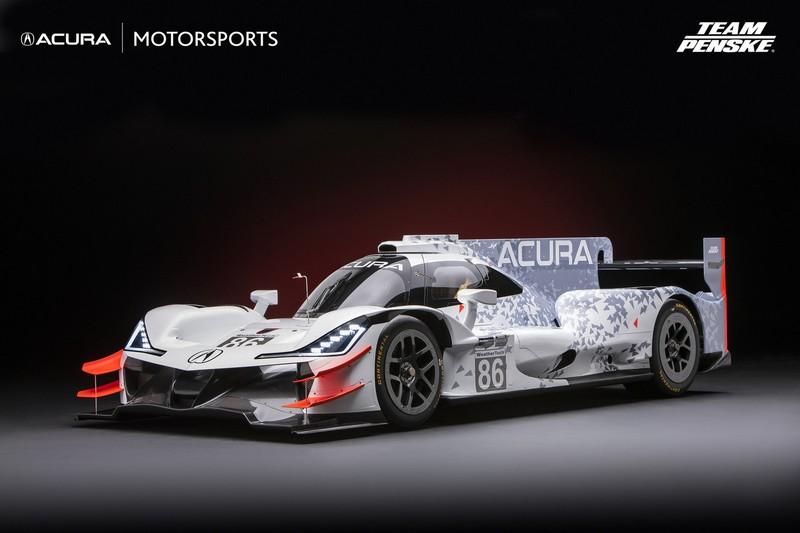 Acura ARX-05 Daytona Prototype Race Car on display at the 2017 SEMA Show-