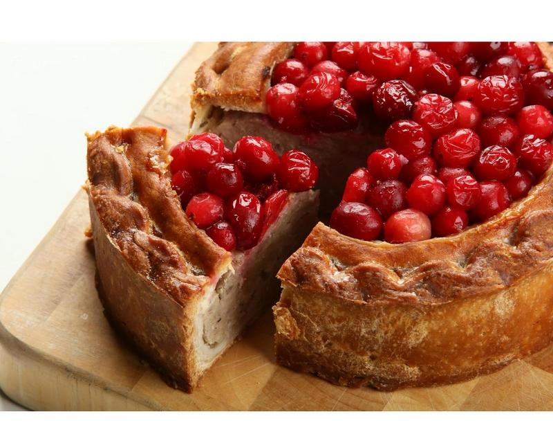 Adams and Harlow Cranberry Topped Pork Pie Ocado