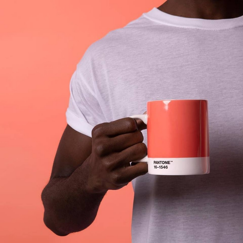 Add Living Coral to your everyday routine with a special Color of the Year 2019 mug designed by pantonecreativelifestyle
