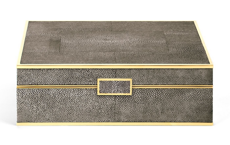Aerin Shagreen Large Jewellery Box