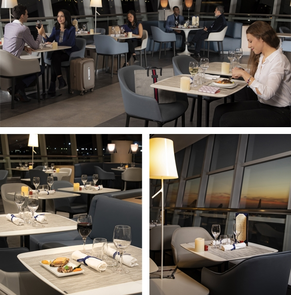 Air France JFK Lounge-revamped dining area