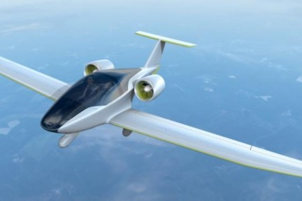 Airbus' new green plane. The world's first e-fan electric aircraft