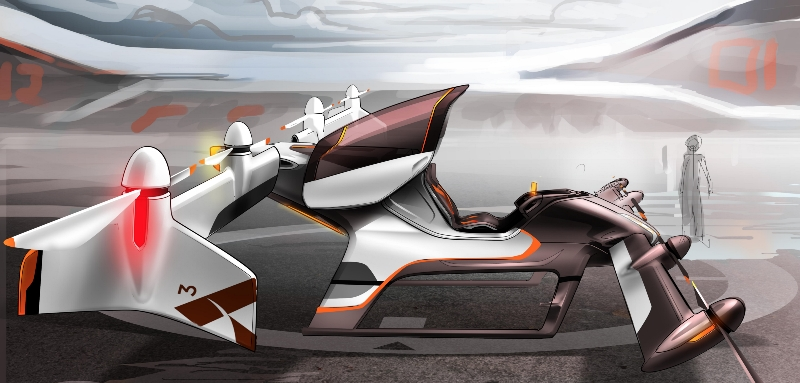 Airbus Group's Project Vahana flying car concept-0