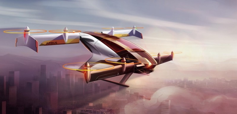 Airbus Group's Project Vahana flying car concept-2017