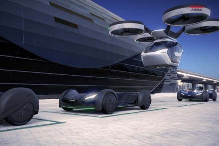 Pop.up zero emission concept vehicle makes full use of both ground and airspace