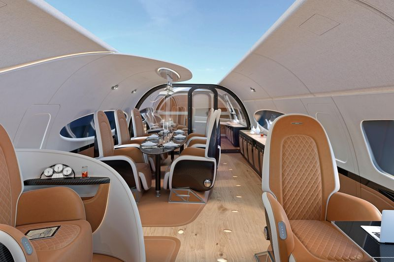 Airbus Pagani CabinACJ319_Infinito_cabin_Conference_and_Dining