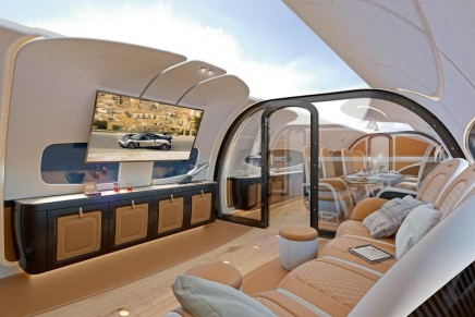 Airbus x Italian hypercar Pagani design a corporate jet cabin with a sky ceiling