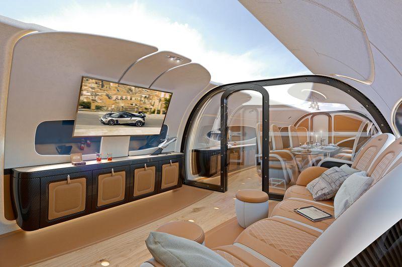 Airbus Pagani Cabin_ACJ319_Infinito_cabin