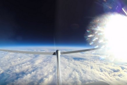 Fasten your seat belts and see what it's like to soar above 76,000 feet pressure altitude