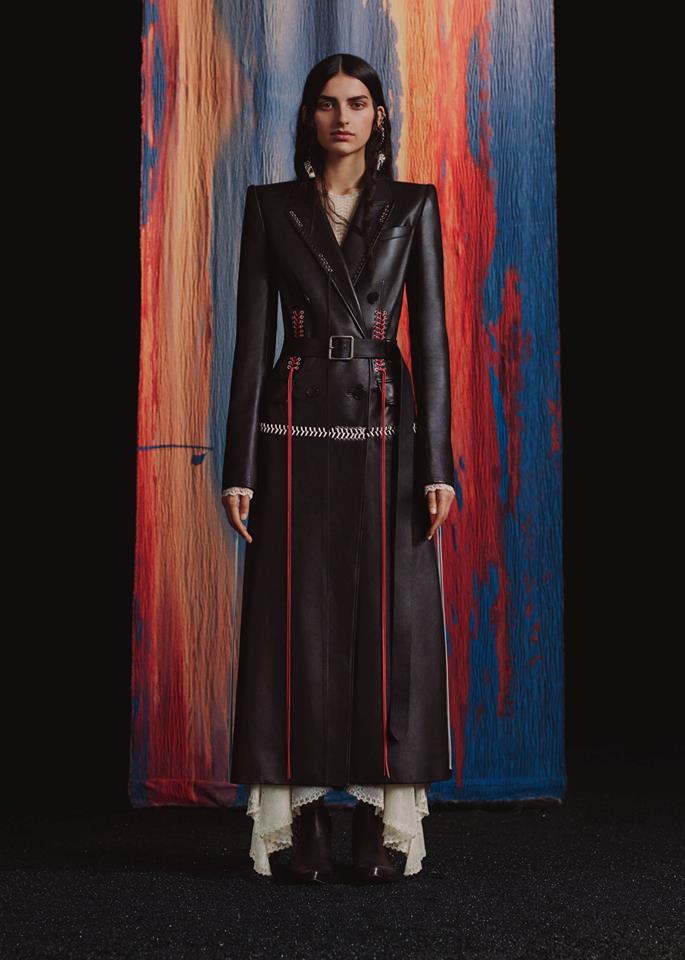 Alexander McQueen Autumn-Winter 2017 leather looks