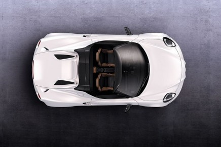 The 'convertible' evolution of Alfa Romeo's 4C Spider
