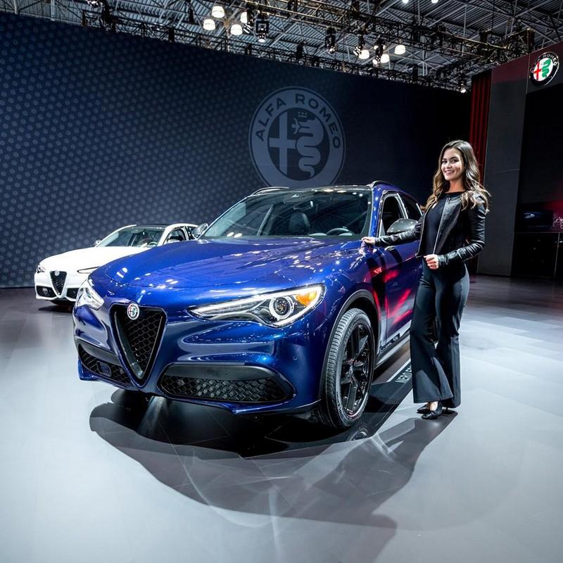 Alfa romeo at New York International Auto Show 2018
