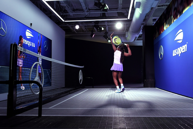All-New Mercedes-Benz Augmented Reality Experience at the US Open Fan Zone featuring MBUX Technology
