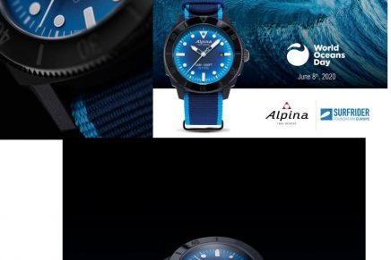 Alpina Seastrong Diver Gyre Automatic debuts a watch made from fishing nets