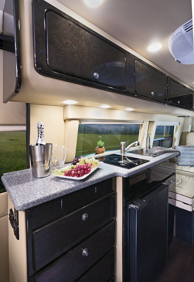 American Patriot, a luxury Class B motorhome, joins American Coach family- interior kitchen