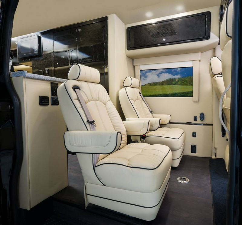 American Patriot, a luxury Class B motorhome, joins American Coach family- the seats