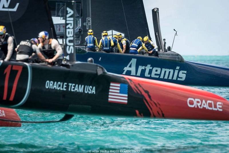America's Cup Artemis Team and Oracle Team USA in Bermuda