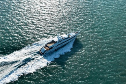 Head-turning Amore Mio, the largest and most powerful sports yacht ever built in the Netherlands, delivered