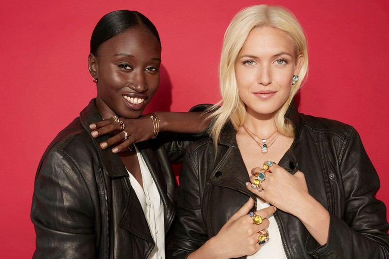 Amy Sall and Carlotta Kohl wear their best smiles and Pomellato jewelry for the new fall digital campaign