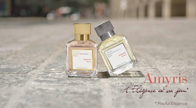 Amyris extrait de parfum, the new fragrance duo from Maison Francis Kurkdjian