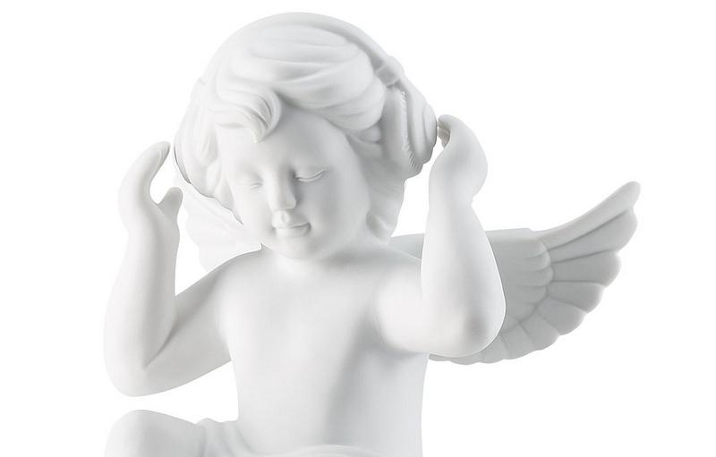 Angel with headphones-