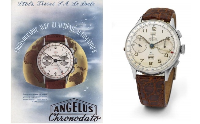 Angelus Chronodao watch 1942