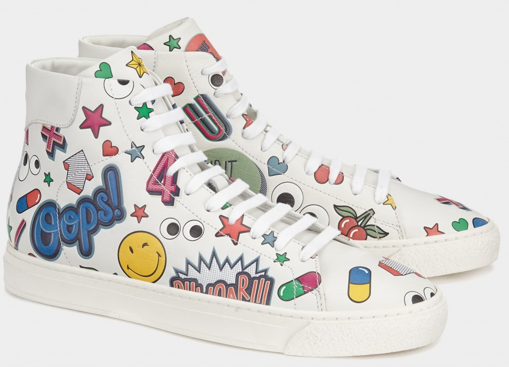 Anya Hindmarch bespoke sneakers - All Over Stickers High-Tops