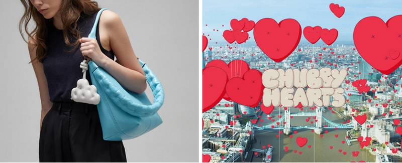 Anya Hindmarch chubby collection and chubby hearts over london
