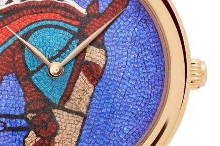 Arceau Robe du soir watch – Leather mosaic from Hermès