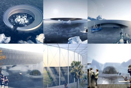 Arctic Harvester. An itinerant agricultural community among icebergs