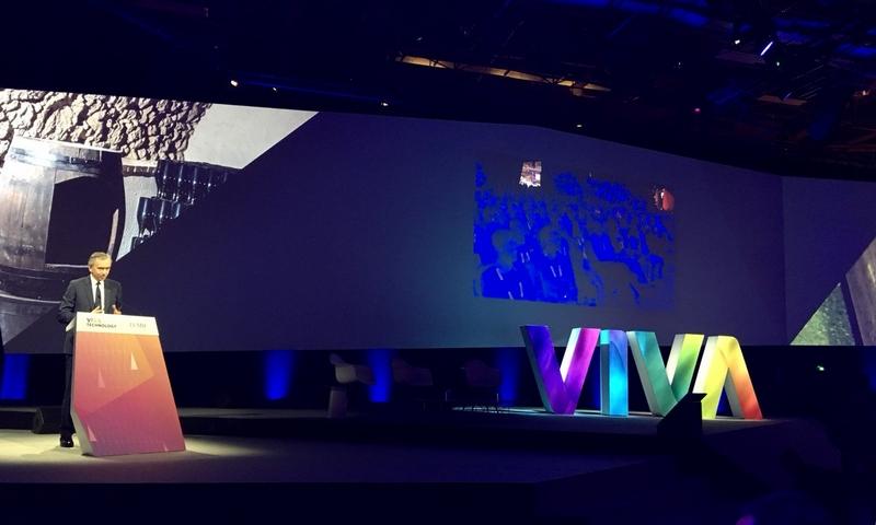 Arnault at LVMH luxury lab Viva Tech 2017