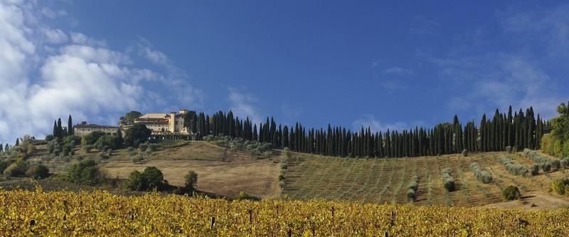 Arriving in the heart of Tuscany - COMO Castello Del Nero, Tuscany- hill