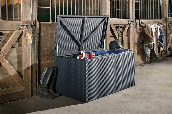 Arrow Spacemaker Deck Box with Basket Weave Design