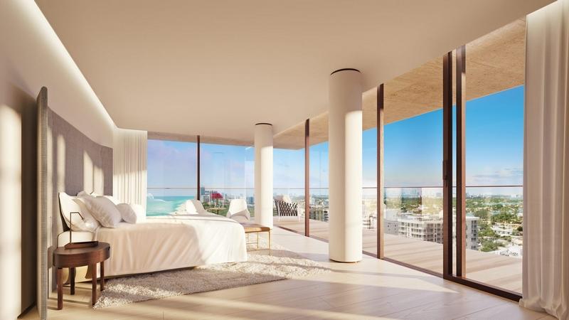 Arte by Antonio Citterio - Miami Corner master bedroom suites feature private terraces