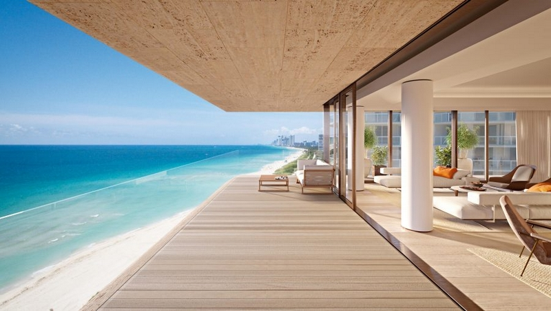 Arte by Antonio Citterio - Miami - Expansive terraces offer seamless spaces fore indoor and outdoor entertaining