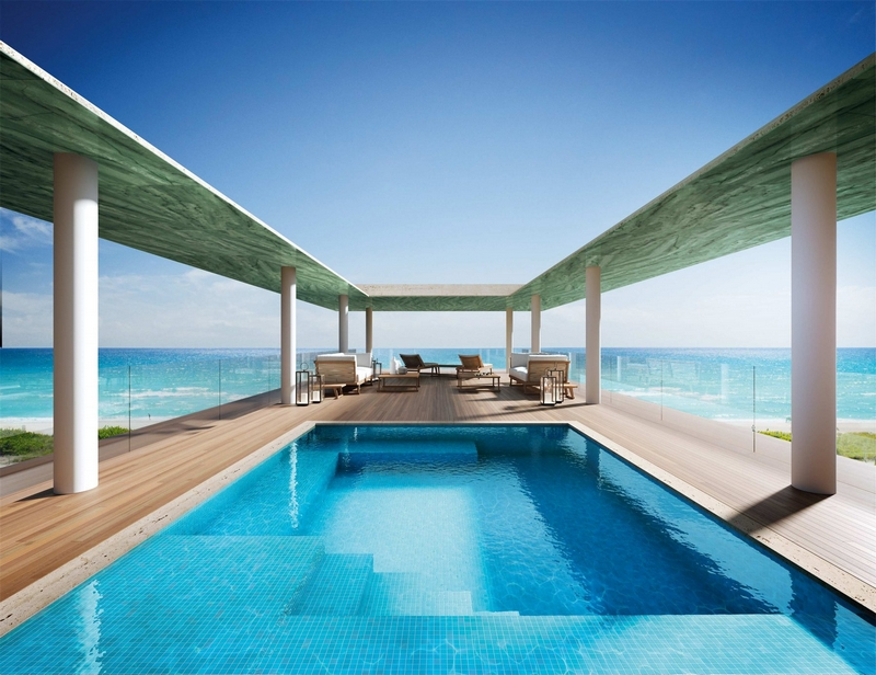 Arte by Antonio Citterio - Miami - The private rooftop terrace and pool