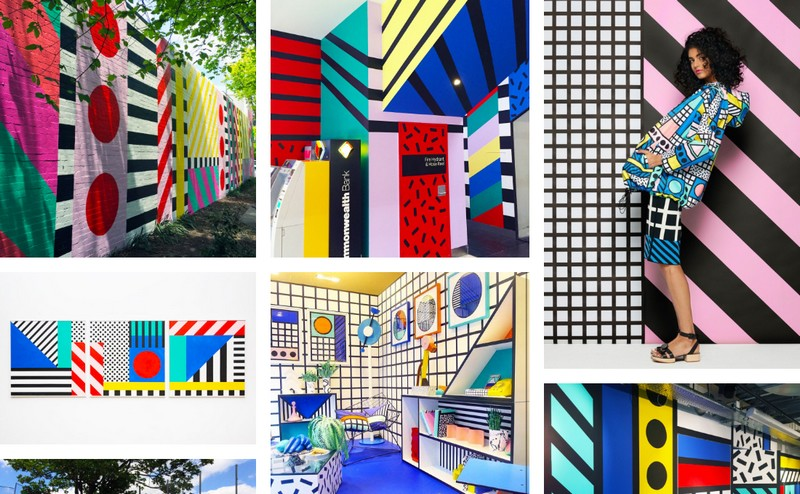 Artist Camille Walala artworks