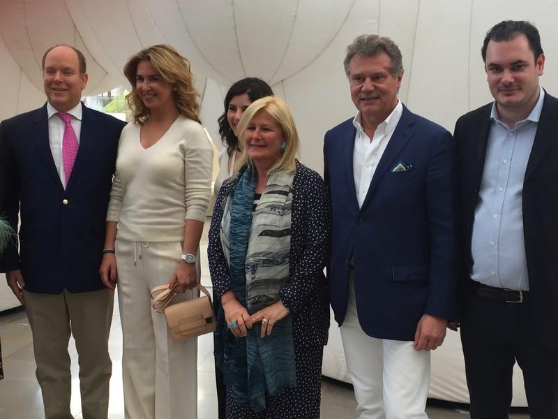 Artmonte-carlo 2017_Prince Albert II De Monaco, Safia El Malqui Al Rashid, Lia Riva, F.P.Journe, Thomas Hug