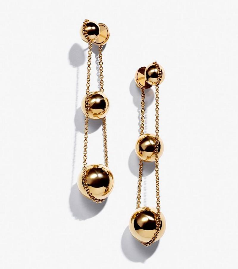 As seen on Lady Gaga - the new Tiffany HardWear triple drop earrings in 18k gold