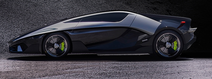 Asfane Italian supercar by Frangivento