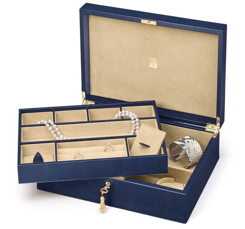 Aspinal of London Leather Grand Luxe Jewellery Box