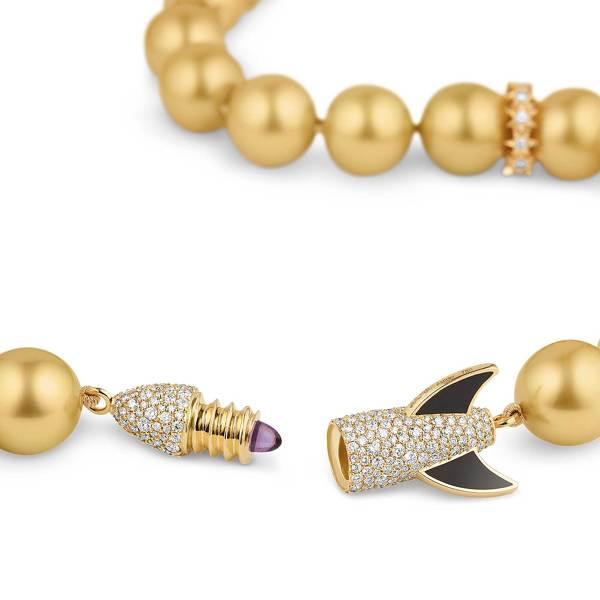 Asprey Cosmic - Gold Rocket Necklace-
