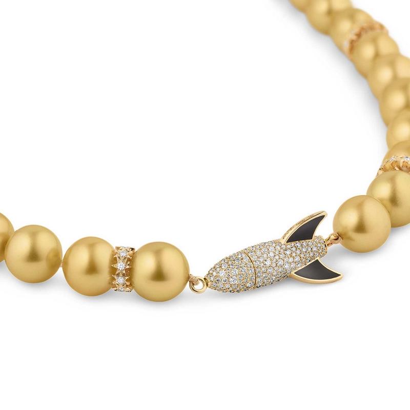 Asprey Cosmic - Gold Rocket Necklace--