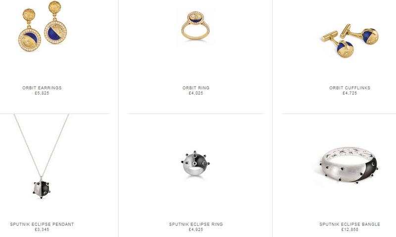 Asprey Cosmic collection items