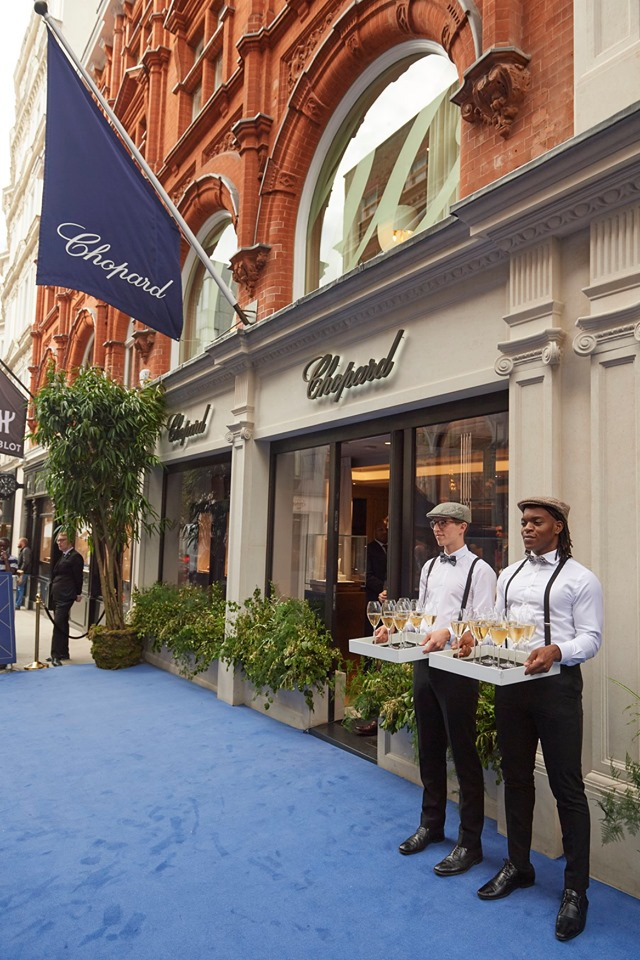 At the Chopard boutique entrance