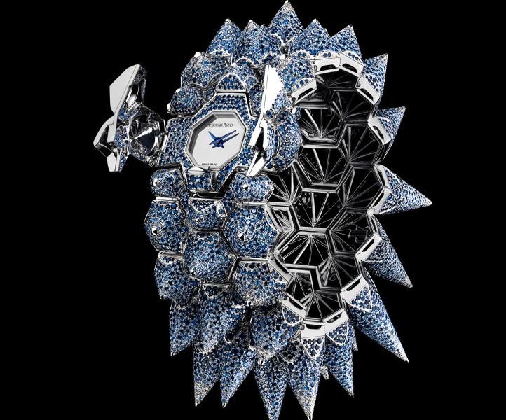Audemars Piguet Diamond Outrage blue diamond watch-lateral view